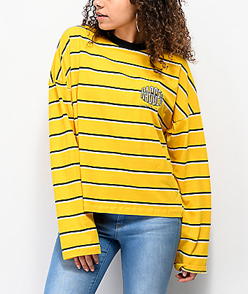 Ragged Jeans Gold Striped Long Sleeve T-Shirt