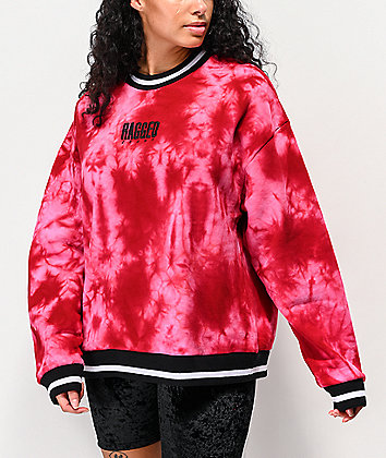 Ragged Jeans Proud Pink Tie Dye Crew Neck Sweatshirt