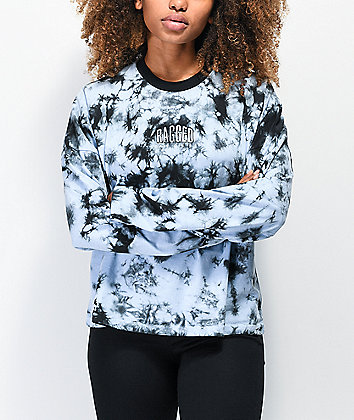 Ragged Jeans Purpose Blue & Black Tie Dye Long Sleeve T-Shirt
