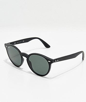 Ray-Ban Blaze Matte Black & Green Sunglasses
