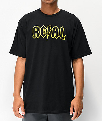 Real Deeds Outline Black T-Shirt