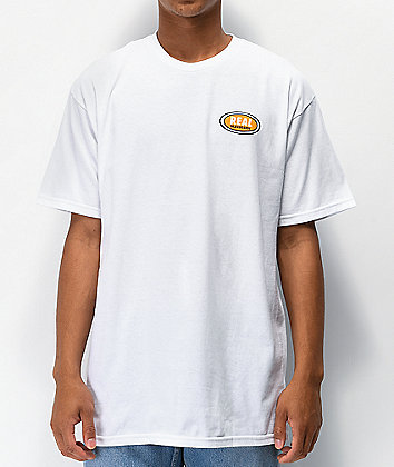 Real Small Oval White T-Shirt