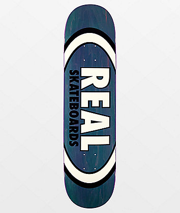 "Real Team Oval Overspray 7.75"" Skateboard Deck"