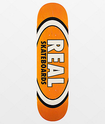 "Real Team Oval Overspray 8.25"" Skateboard Deck"