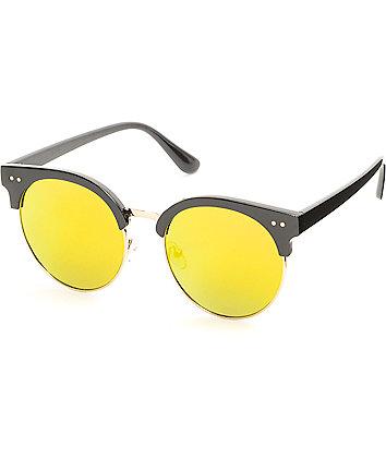 Retro Isabella Flat Tortoise Shell & Red Sunglasses