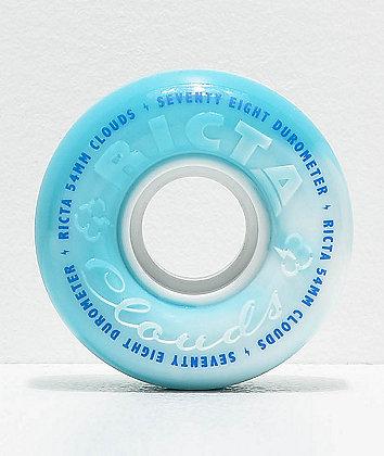 Ricta Clouds 54mm 78a Blue Swirl Skateboard Wheels