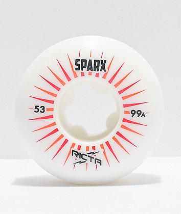 Ricta Sparx 53mm 99a White Skateboard Wheels