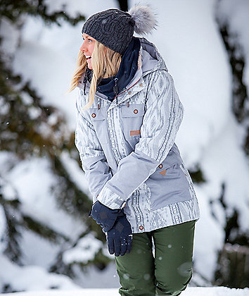 Rojo Ashton Aztec Glacier Grey 20K Snowboard Jacket