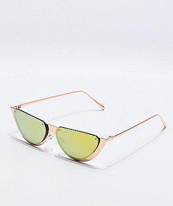 Rose Gold Half Moon Sunglasses