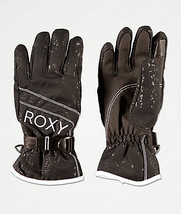 Roxy Jetty Black Snowboard Gloves