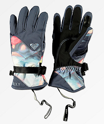 Roxy Jetty Coral Cloud Dusk Snowboard Gloves