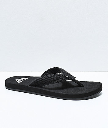 Roxy Porto II Black Sandals