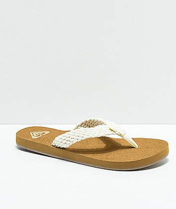 Roxy Porto II Cream Sandals