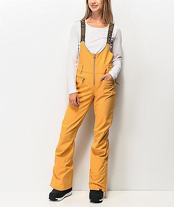 Roxy Torah Bright Summit Spruce Yellow 15K Snowboard Bib Pants