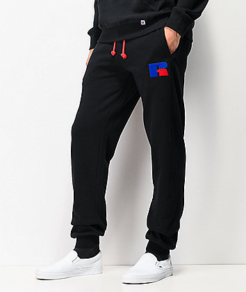 Russell Athletic Ernest Black Jogger Sweatpants
