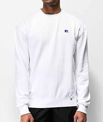 Russell Athletic Frank White Crew Neck Sweatshirt