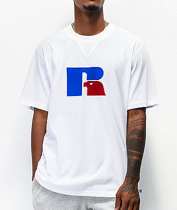 Russell Athletic Jerry Flock White T-Shirt