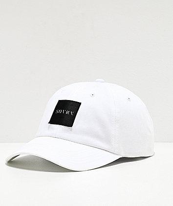 SOVRN Box Logo White Strapback Hat