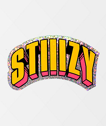 STIIIZY Comics Silver, Yellow & Pink Sticker