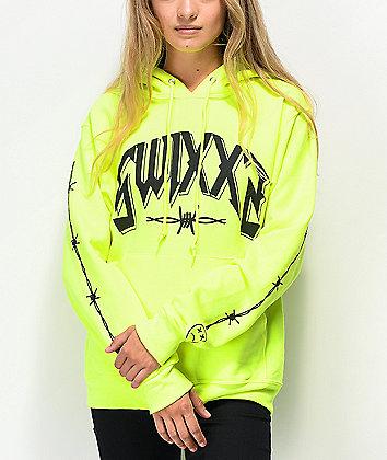 SWIXXZ Recklessly Neon Green Hoodie