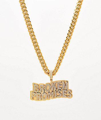 Saint Midas x Broken Promises Iced Wave Gold Cuban Chain