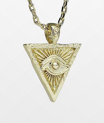 Saint Midas x Nyjah Huston Eye Of Providence Gold Necklace