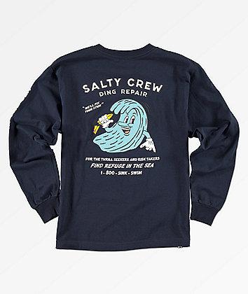 Salty Crew Boys Salty Ding Repair Navy Long Sleeve T-Shirt