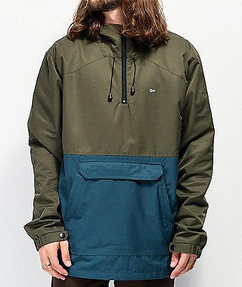Salty Crew Deckhand Brown Anorak Jacket