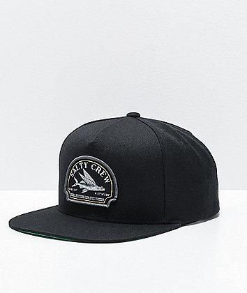 Salty Crew Flyer Black Snapback Hat