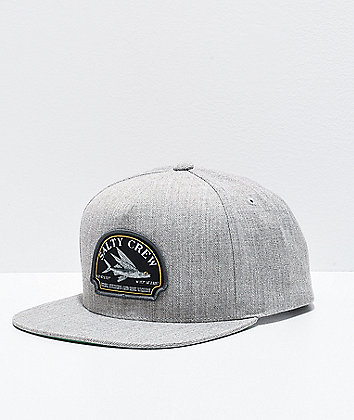 Salty Crew Flyer Oatmeal Grey Snapback Hat