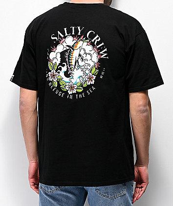 Salty Crew Stop Teasing Black T-Shirt