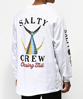 Salty Crew Tailed White Long Sleeve T-Shirt