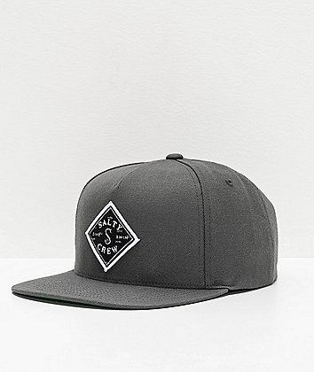 Salty Crew Tippet Cover Up Charcoal Snapback Hat