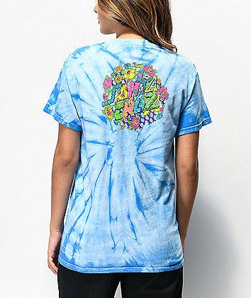 Santa Cruz Baked Dot camiseta tie dye azul