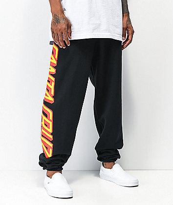 Santa Cruz Big Strip pantalones deportivos negros