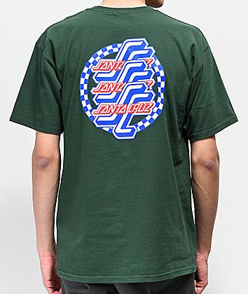 Santa Cruz Checkered OG Script Forest Green T-Shirt