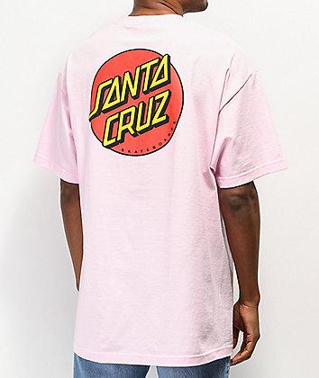 Santa Cruz Classic Dot Pink & White T-Shirt