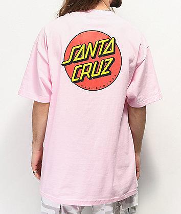 Santa Cruz Classic Dot Pink T-Shirt