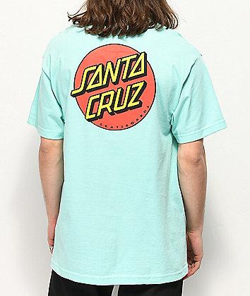 Santa Cruz Classic Dot Stripe Celadon camiseta
