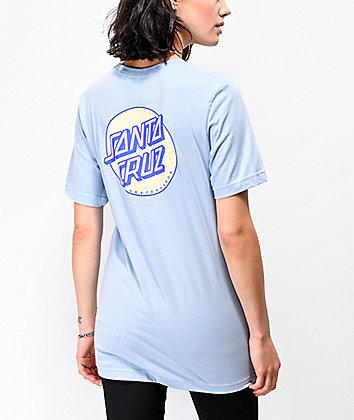 Santa Cruz Coiled Dot Baby Blue T-Shirt