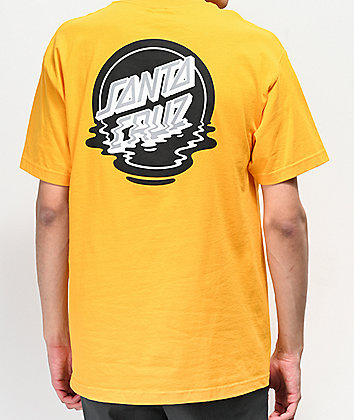 Santa Cruz Dot Reflection camiseta dorada