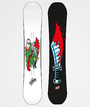 Santa Cruz Grommet Slasher White Snowboard 2020