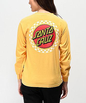 Santa Cruz Locked camiseta de manga larga de rayas amarillas