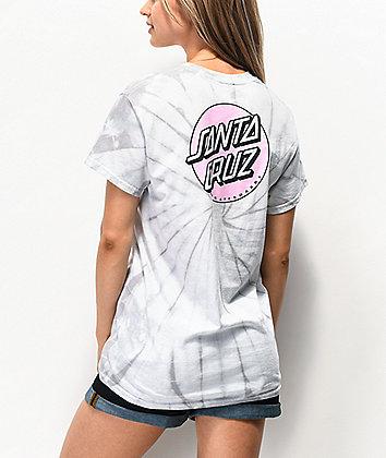 Santa Cruz Missing Dot Spider camiseta tie dye