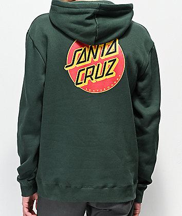 Santa Cruz Multiple Dot sudadera con capucha verde