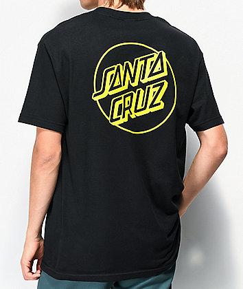 Santa Cruz Opus Dot Black & Safety Green T-Shirt