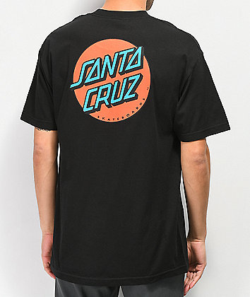 Santa Cruz Other Dot Black & Red T-Shirt