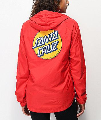 Santa Cruz Other Dot chaqueta cortavientos roja
