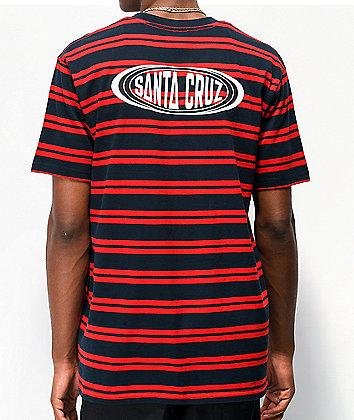 Santa Cruz Region Red & Navy Striped T-Shirt
