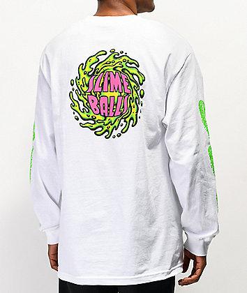 Santa Cruz Slime Balls NBNG White Long Sleeve T-Shirt